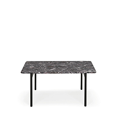 Drawing inspiration from the concepts of elegance and sophistication, the Blume coffee tables featuring the seating's flower-shaped profile, which protrudes visibly beyond the perimeter of the top. Available in three heights with extruded aluminium frame and square 690x690 mm marble, composite marble or solid laminate top. The Blume tables may be combined to create different compositions.