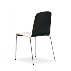 Chair with laminate shell