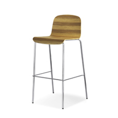 stool with covering moulded laminate seat